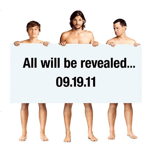 'Two and a Half Men' Poster Teases Naked Ashton Kutcher