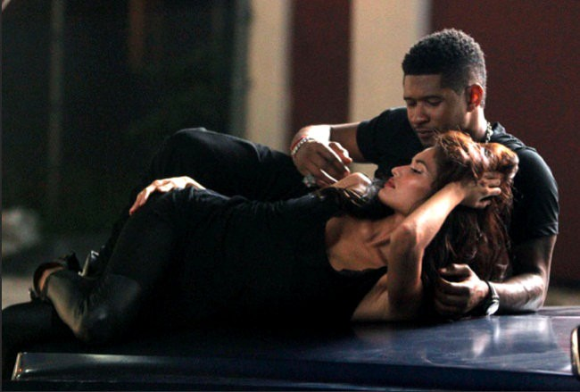 Usher Heats Up the Set of 'Promise' Music Video With a Seductress