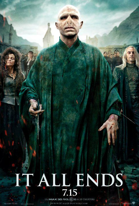 Voldemort and Death Eaters on New 'Deathly Hallows 2' Poster