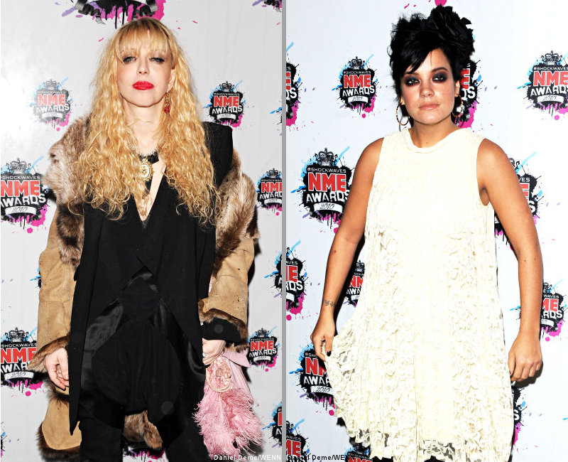 Courtney Love Continues Slamming Lily Allen on Twitter