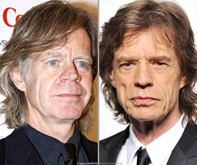 William H. Macy Mistaken for Mick Jagger