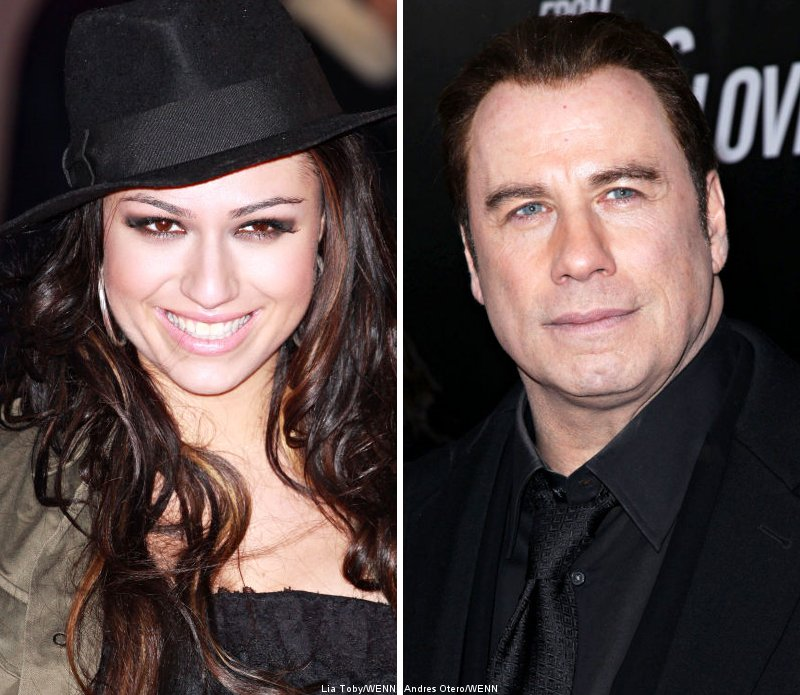 Gabriella Cilmi Comforted With a Kiss by John Travolta