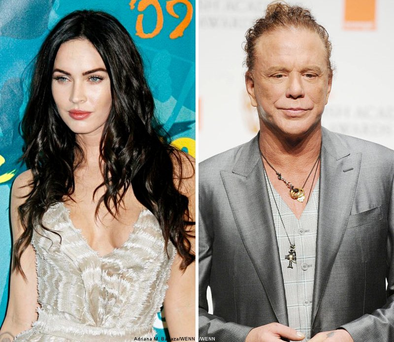 Megan Fox Honors Mickey Rourke