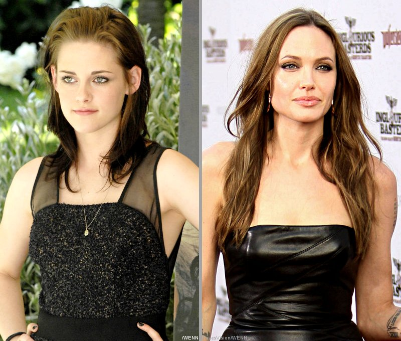 Kristen Stewart Gives a Nod to Replacing Angelina Jolie
