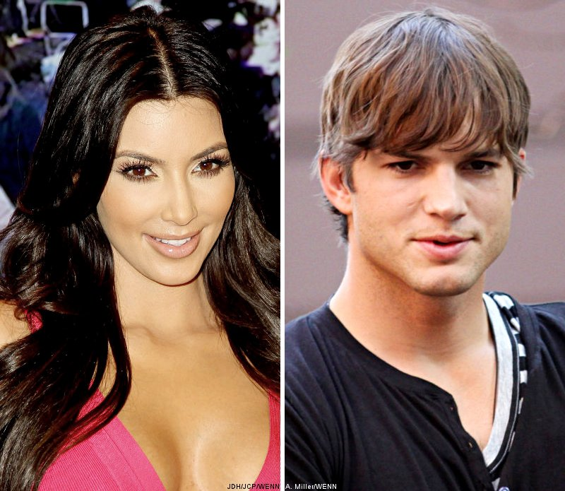 Kim Kardashian Denies Ashton Kutcher Has Crush on Her