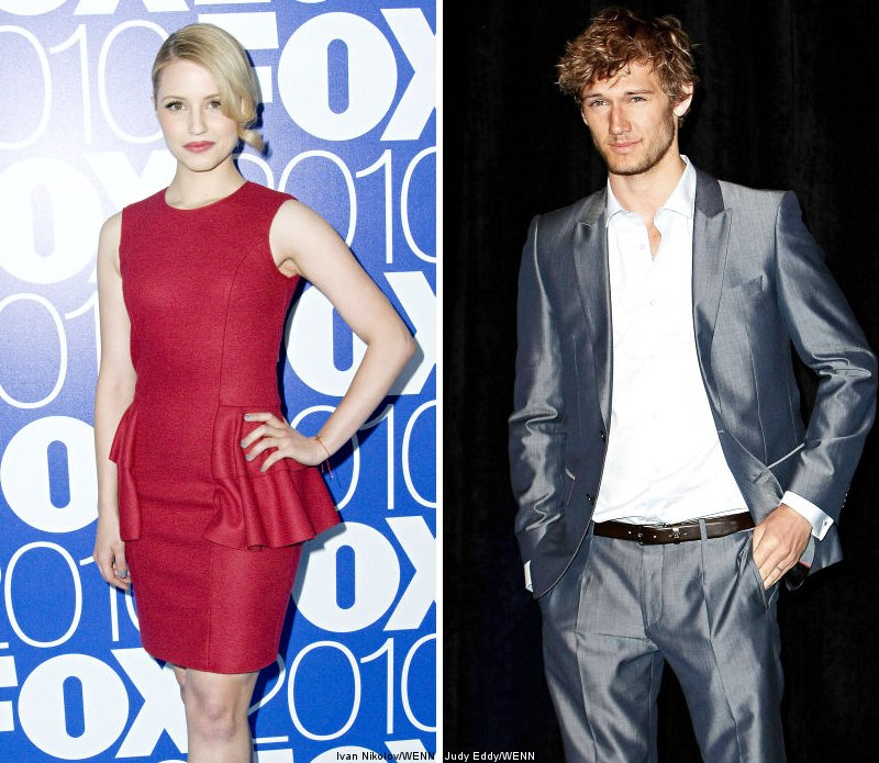 Dianna Agron Introduces Alex Pettyfer to 'Glee' Family
