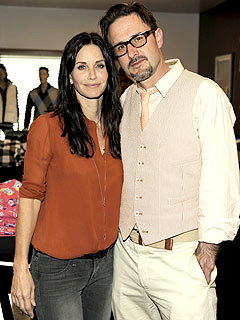 Courteney Cox and David Arquette 'Affectionate' at Charity Bash