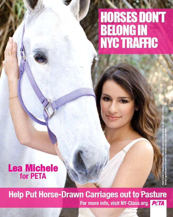 Video: Lea Michele Urges People to Boycott Horse-Drawn Carriages