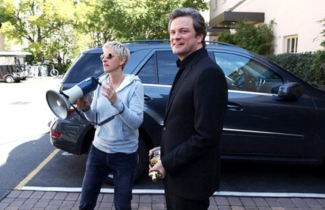 Oscar Winner Colin Firth Gives Surprise Visit to Ellen DeGeneres