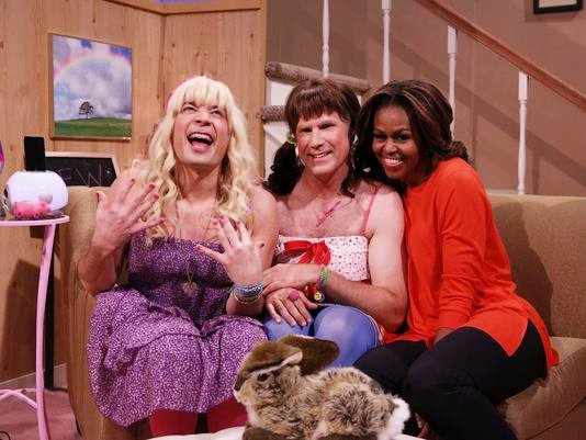 Video: Will Ferrell and Michelle Obama Join Jimmy Fallon in 'Ew!' Sketch