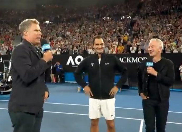 Will Ferrell's Ron Burgundy Crashes Interview With Roger Federer at Australian Open