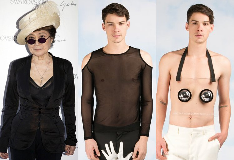 Yoko Ono Unveils Cheeky Menswear Inspired by Late Husband John Lennon