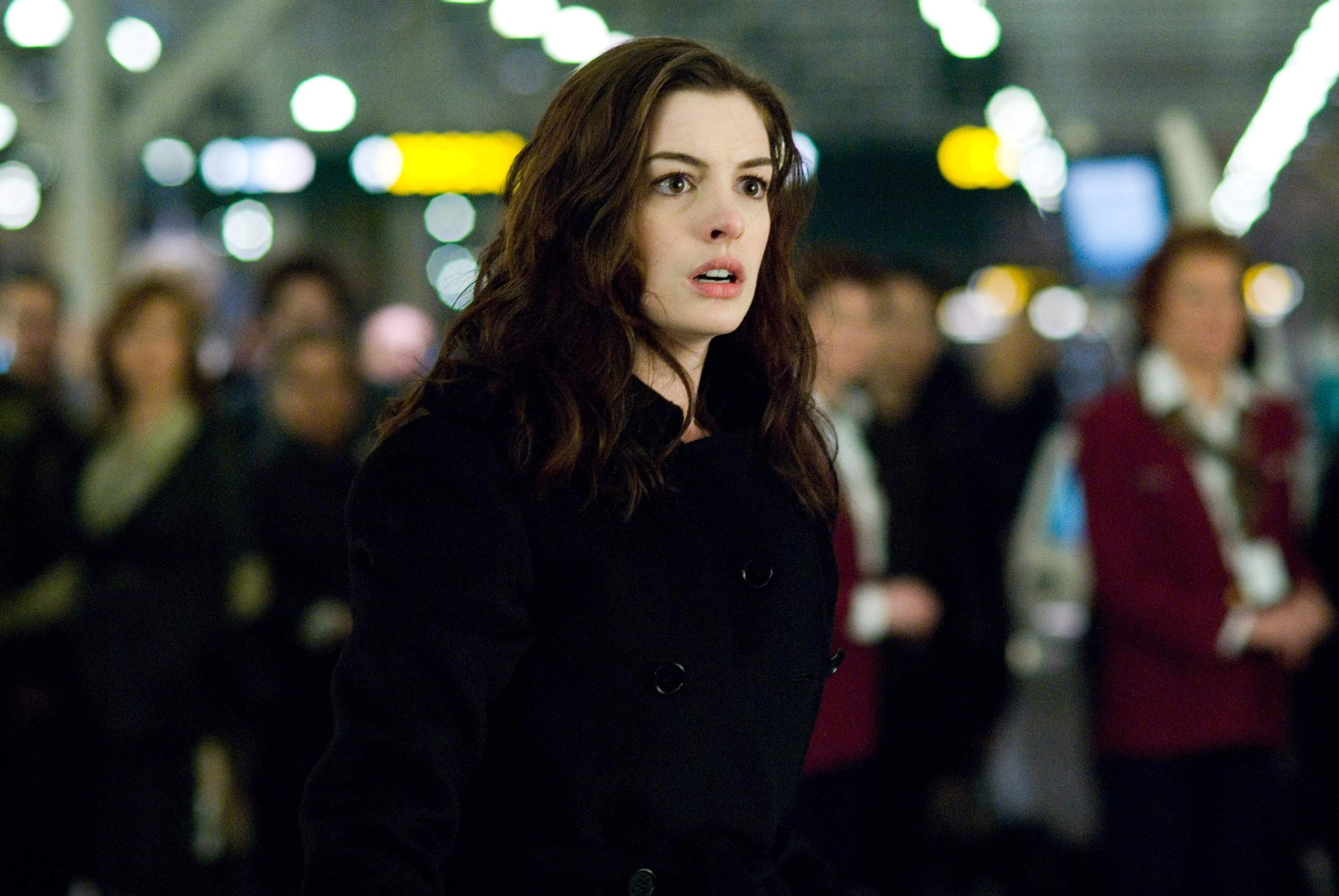 Anne Hathaway as Claire in TriStar Pictures' and Mandate Pictures' thriller PASSENGERS (2008).