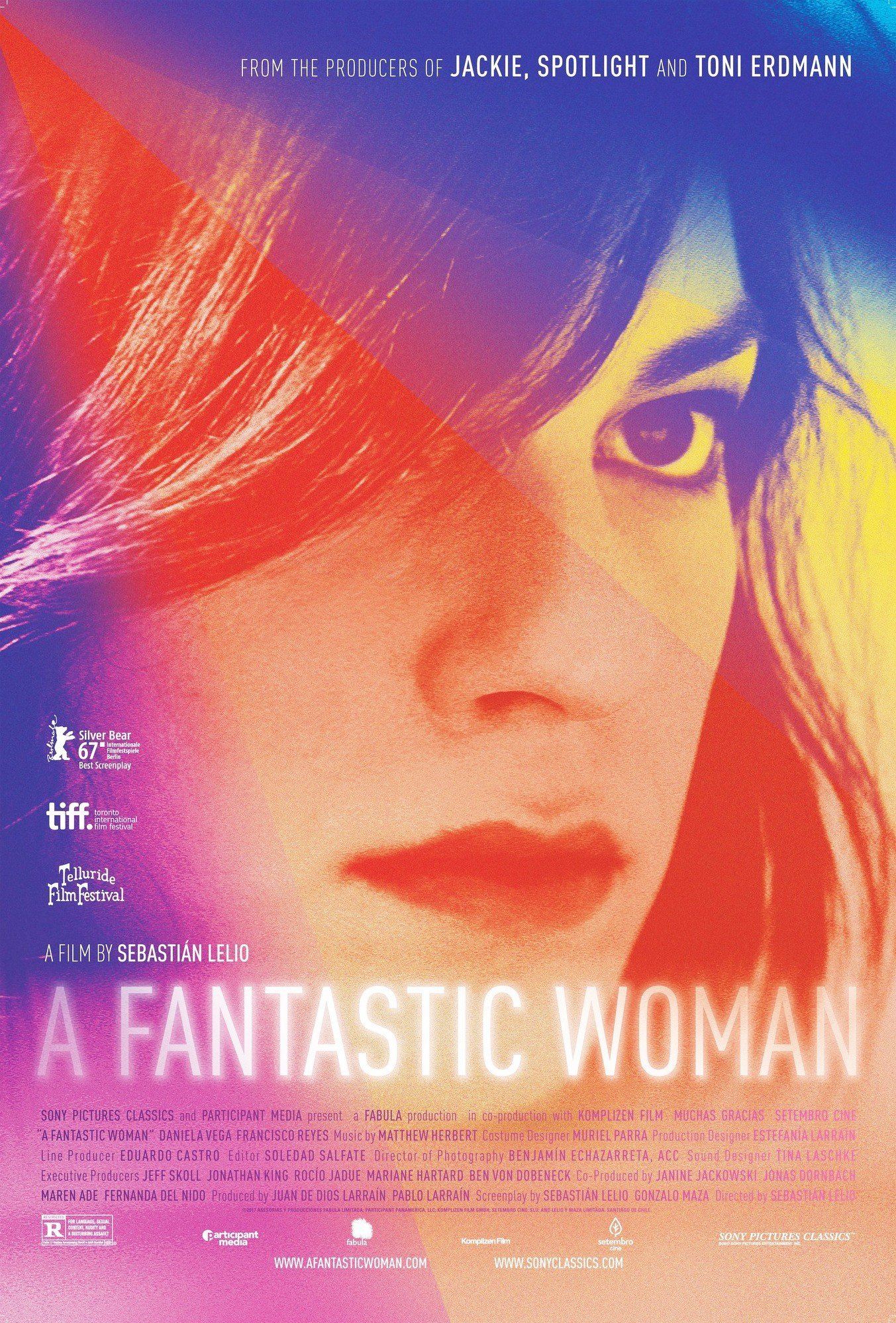 Poster of Sony Pictures Classics' A Fantastic Woman (2018)