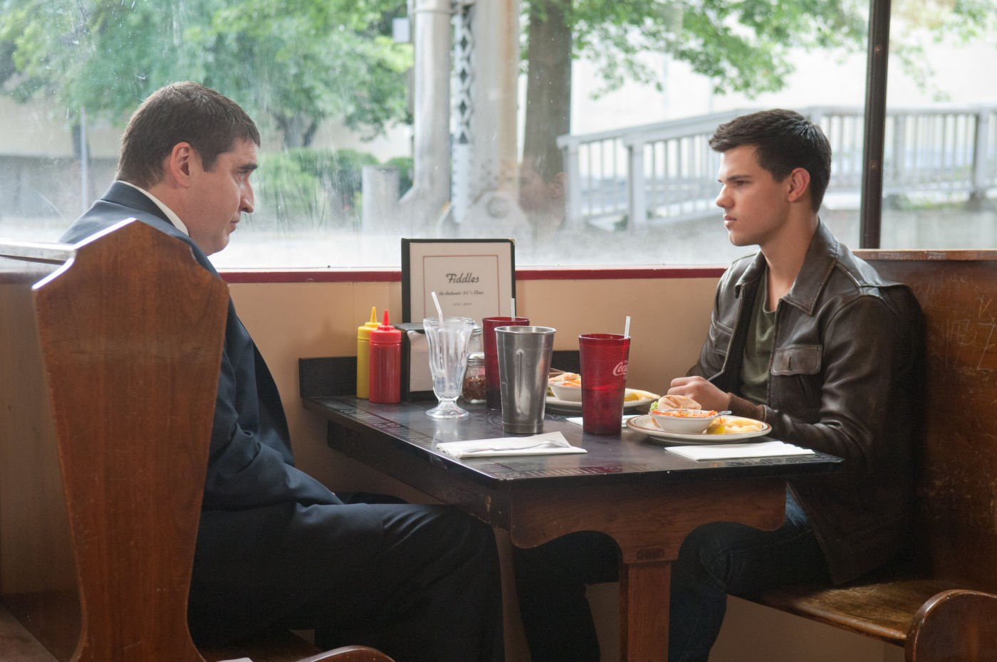 Alfred Molina stars as Frank Burton and Taylor Lautner stars as Nathan in Lionsgate Films' Abduction (2011)