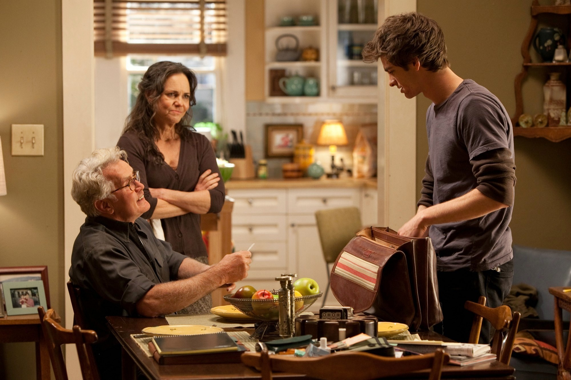 Martin Sheen, Sally Field and Andrew Garfield in Columbia Pictures' The Amazing Spider-Man (2012)