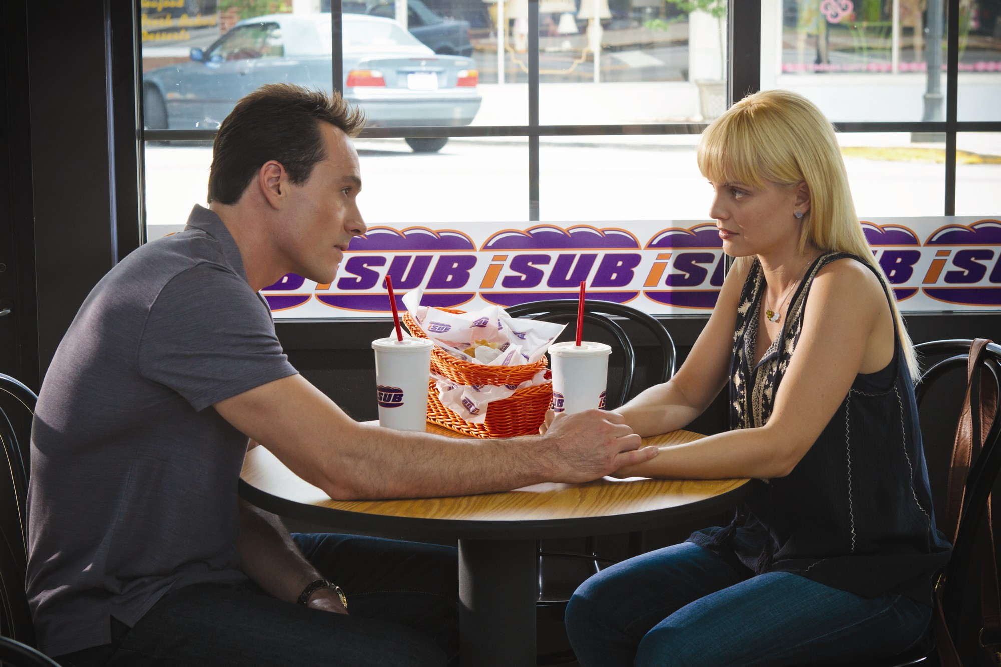 Chris Klein stars as Oz and Mena Suvari stars as Heather in Universal Pictures' American Reunion (2012)