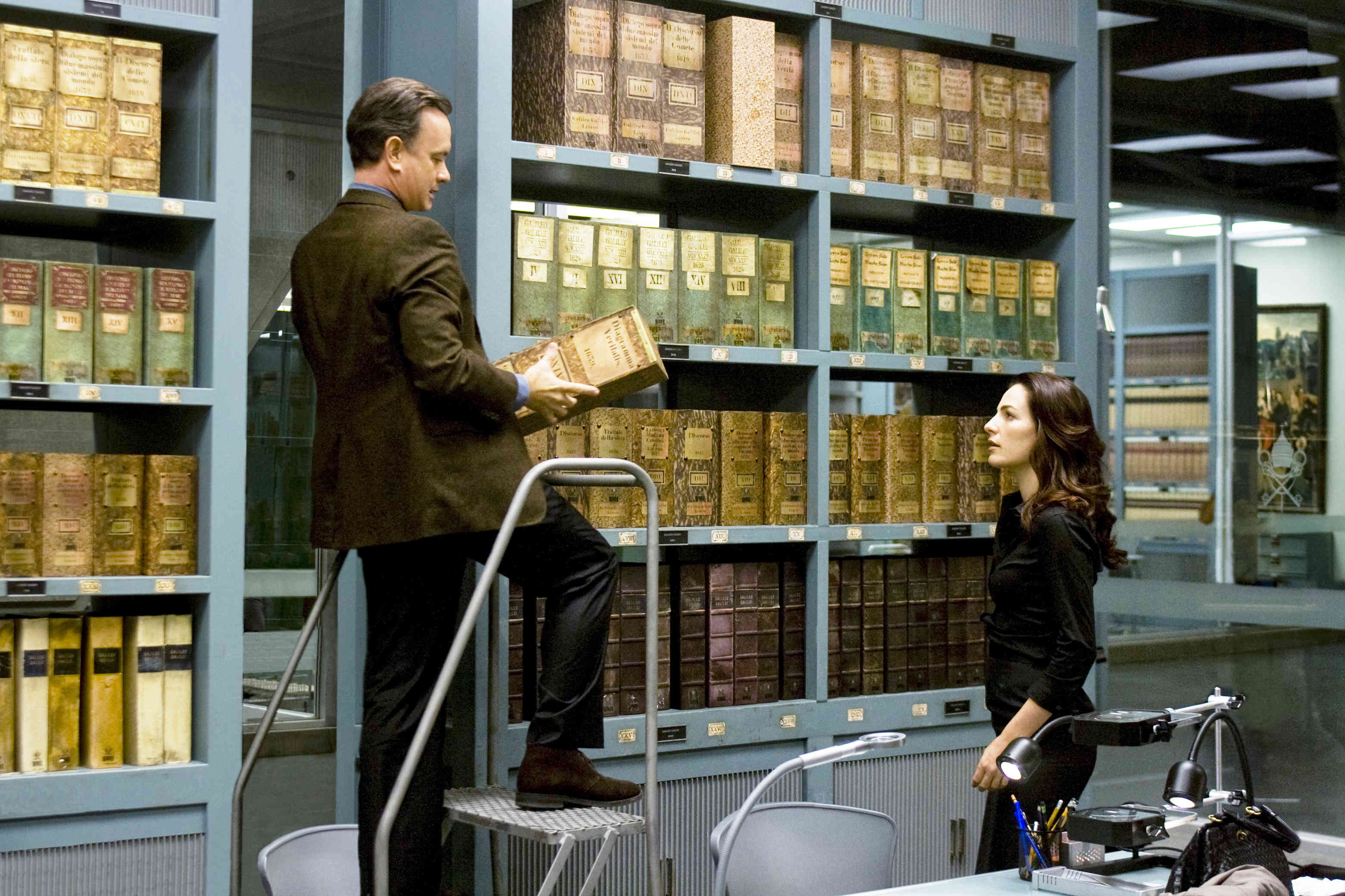 Tom Hanks stars as Robert Langdon and Ayelet Zurer stars as Vittoria Vetra in Sony Pictures Releasing's Angels & Demons (2009)