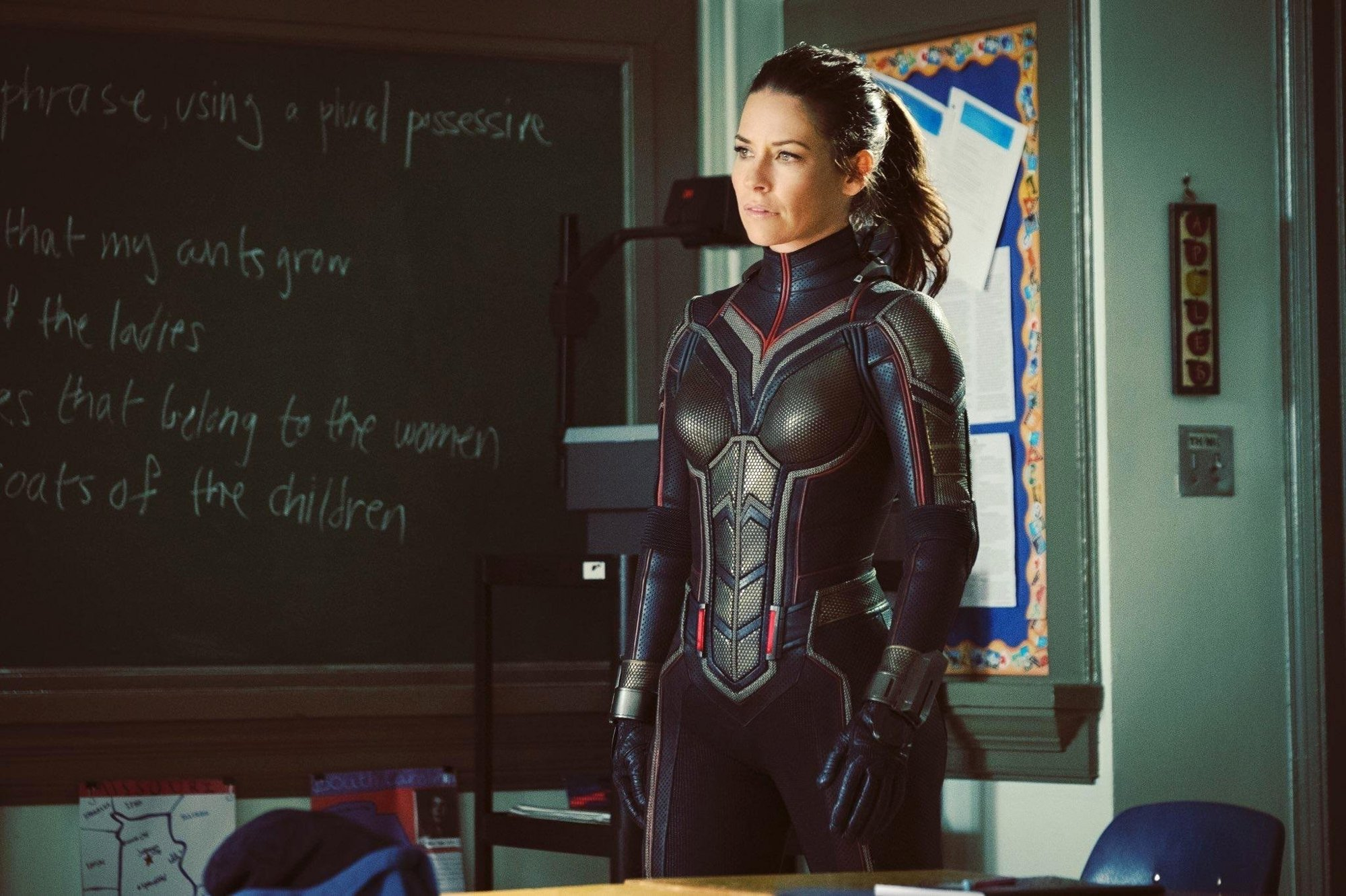 Evangeline Lilly stars as Hope van Dyne/The Wasp in Walt Disney Pictures' Ant-Man and the Wasp (2018)