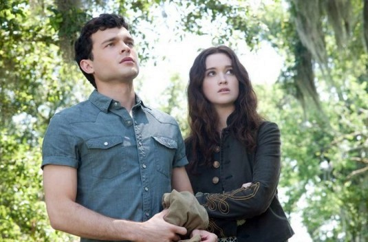 Alden Ehrenreich stars as Ethan Wate and Alice Englert stars as Lena Duchaness in Warner Bros. Pictures' Beautiful Creatures (2013)