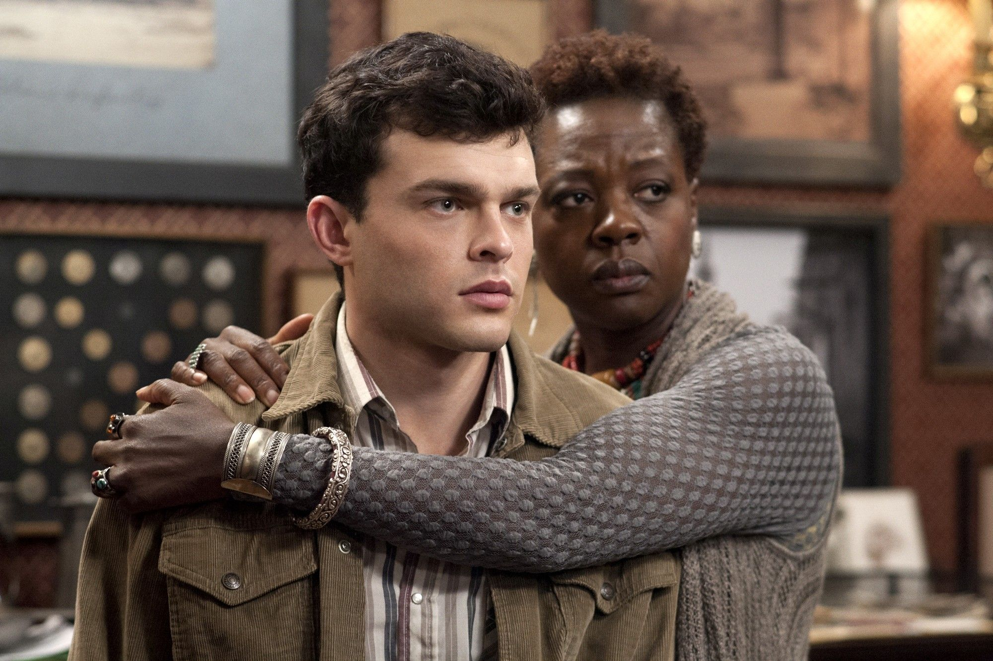 Alden Ehrenreich stars as Ethan Wate and Viola Davis stars as Amma in Warner Bros. Pictures' Beautiful Creatures (2013)