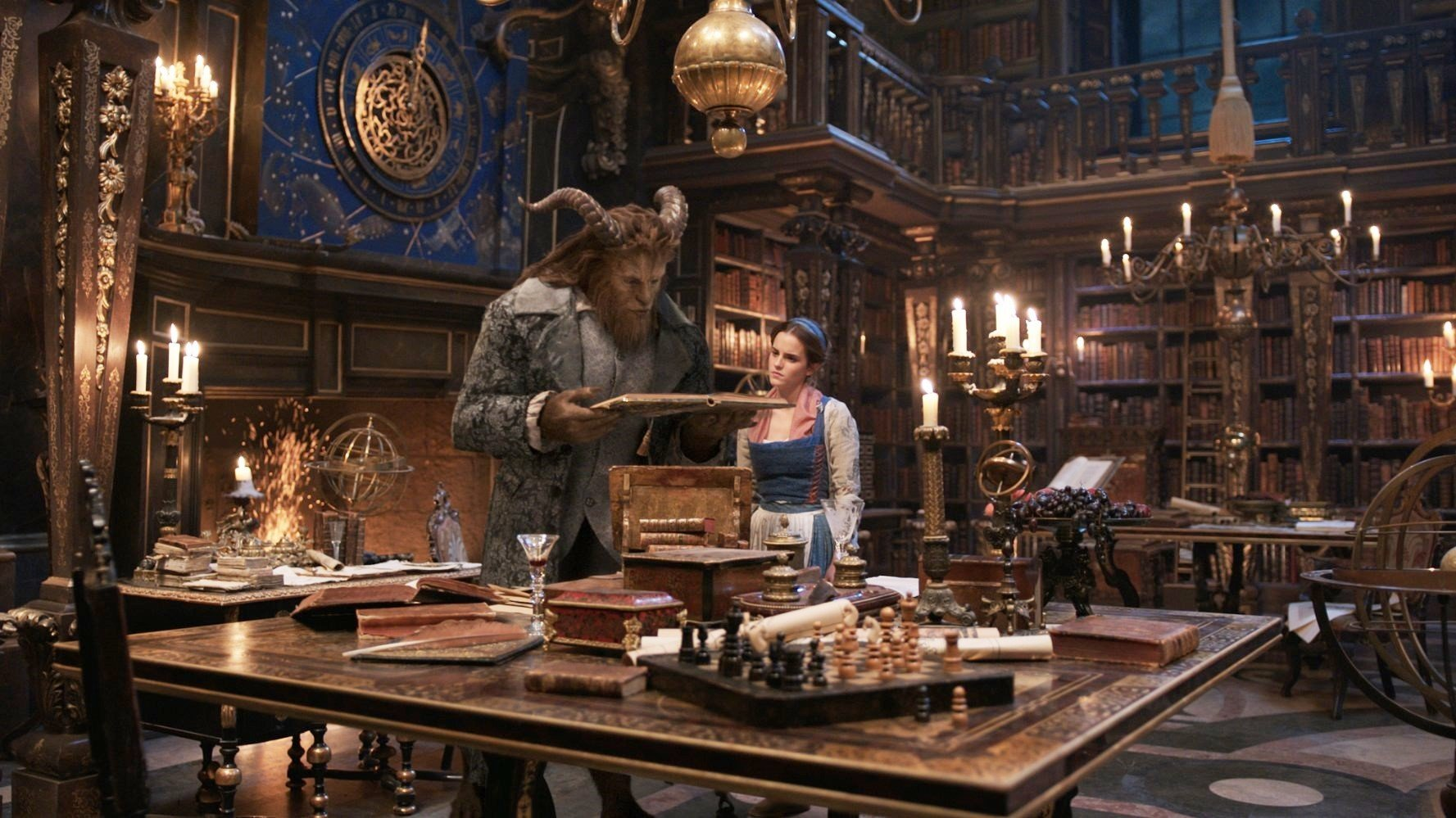 Dan Stevens stars as Beast and Emma Watson stars as Belle in Walt Disney Pictures' Beauty and the Beast (2017)