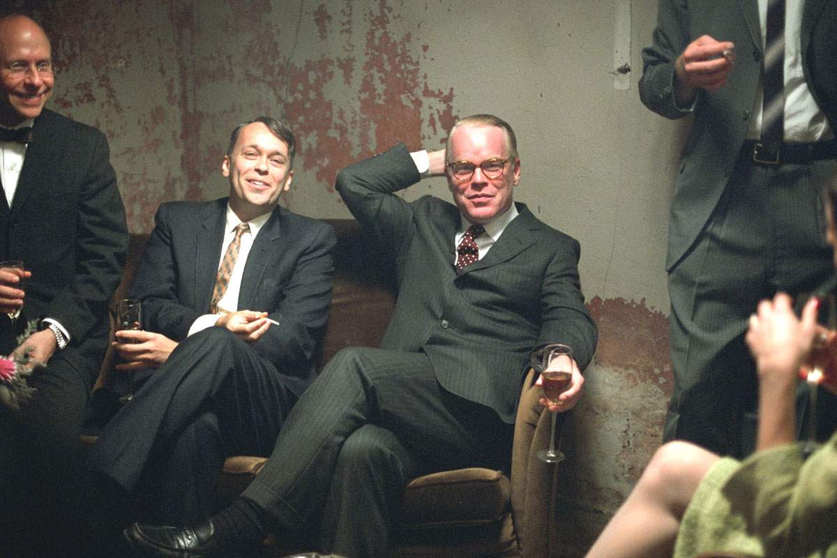 Philip Seymour Hoffman as Truman Capote in Sony Pictures Classics' Capote (2005)