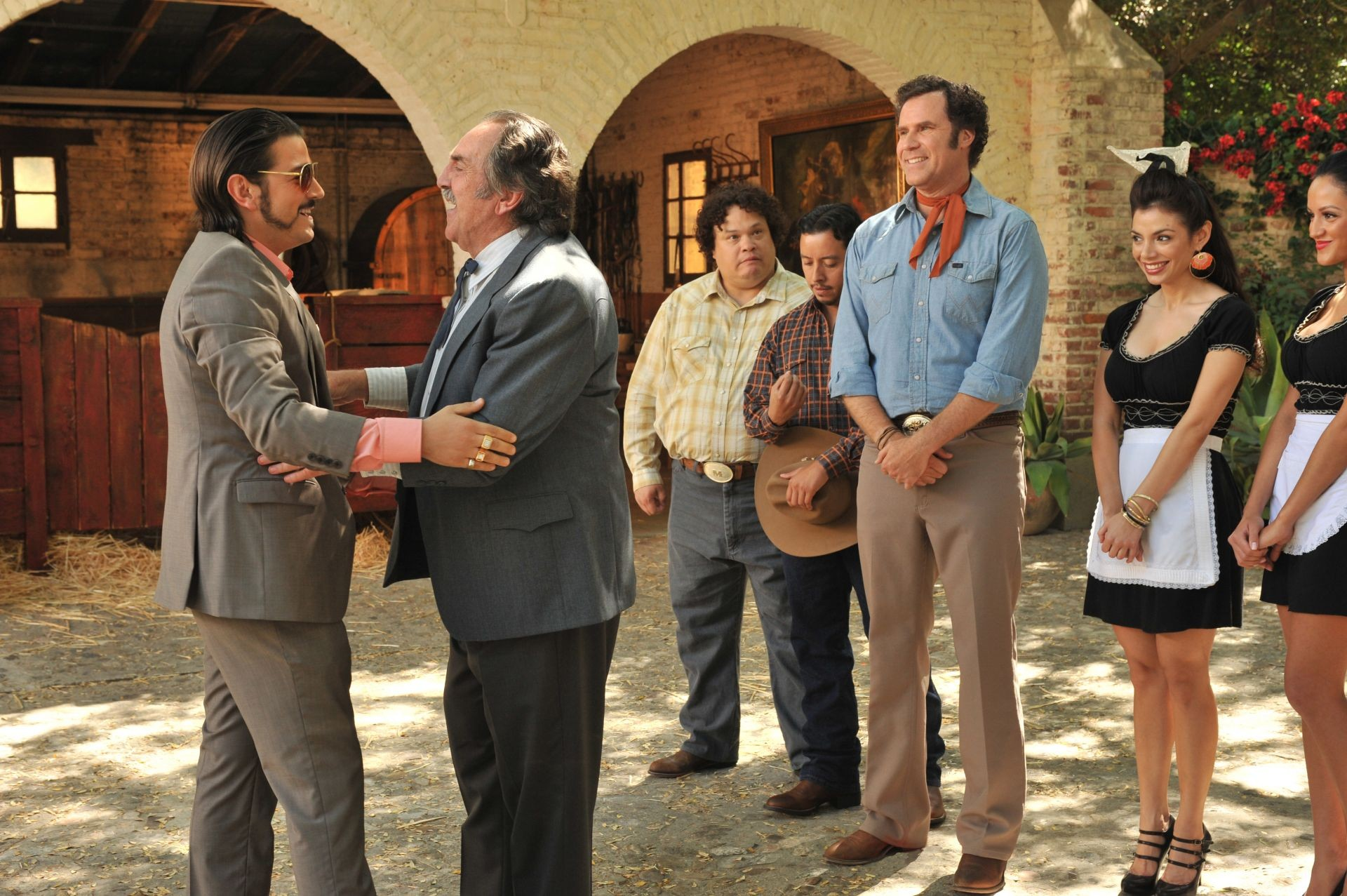 Diego Luna, Pedro Armendariz Jr. and Will Ferrell in Pantelion Films' Casa De Mi Padre (2012). Photo credit by John Estes.