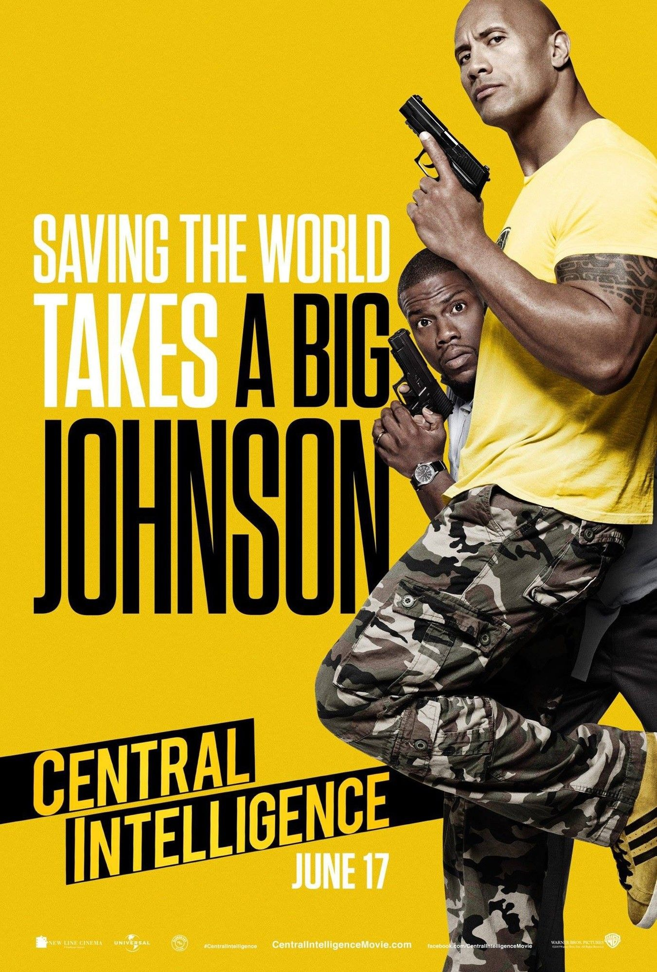 Poster of Warner Bros. Pictures' Central Intelligence (2016)