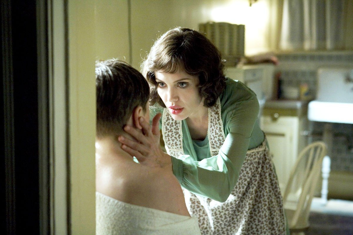 Gattlin Griffith stars as Walter Collins and Angelina Jolie stars as Christine Collins in Universal Pictures' Changeling (2008)