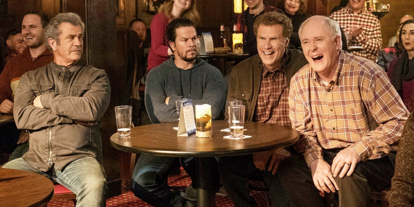 Mel Gibson, Mark Wahlberg, Will Ferrell and John Lithgow in Paramount Pictures' Daddy's Home 2 (2017)