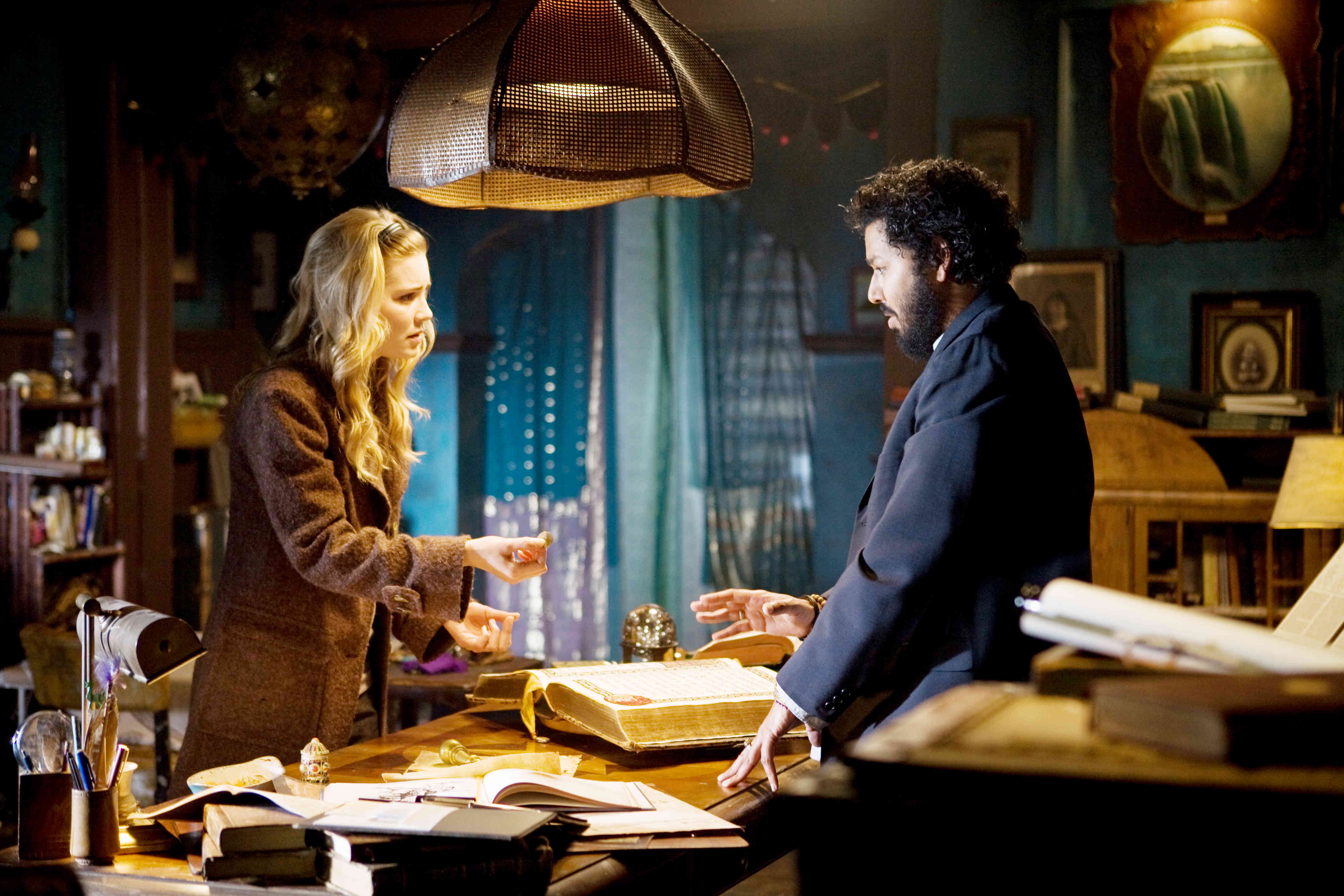 Alison Lohman stars as Christine and Dileep Rao stars as Rham Jas in Universal Pictures' Drag Me to Hell (2009)
