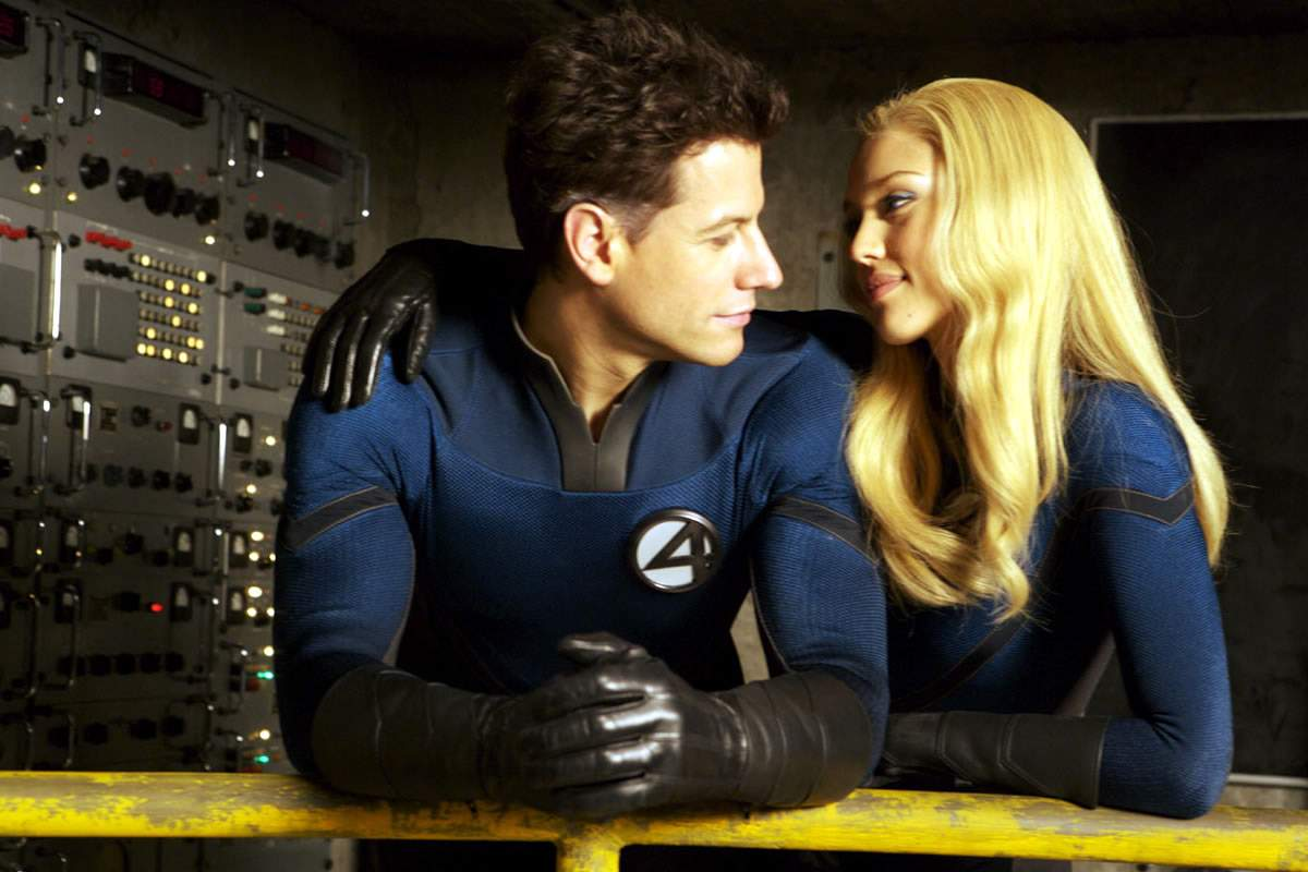 Ioan Gruffudd as Mr Fantastic and Jessica Alba as Invisible Woman in The 20th Century Fox's Fantastic Four: Rise of the Silver Surfer (2007)