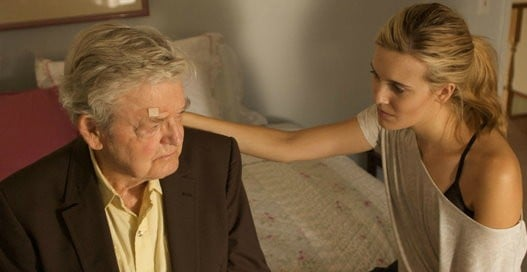 Hal Holbrook and Maggie Grace (stars as Sophie Conway) in New Films Cinema's Flying Lessons (2012)