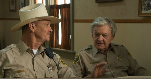 Michael O'Neill (stars as Chief Dobbs) and Hal Holbrook in New Films Cinema's Flying Lessons (2012)