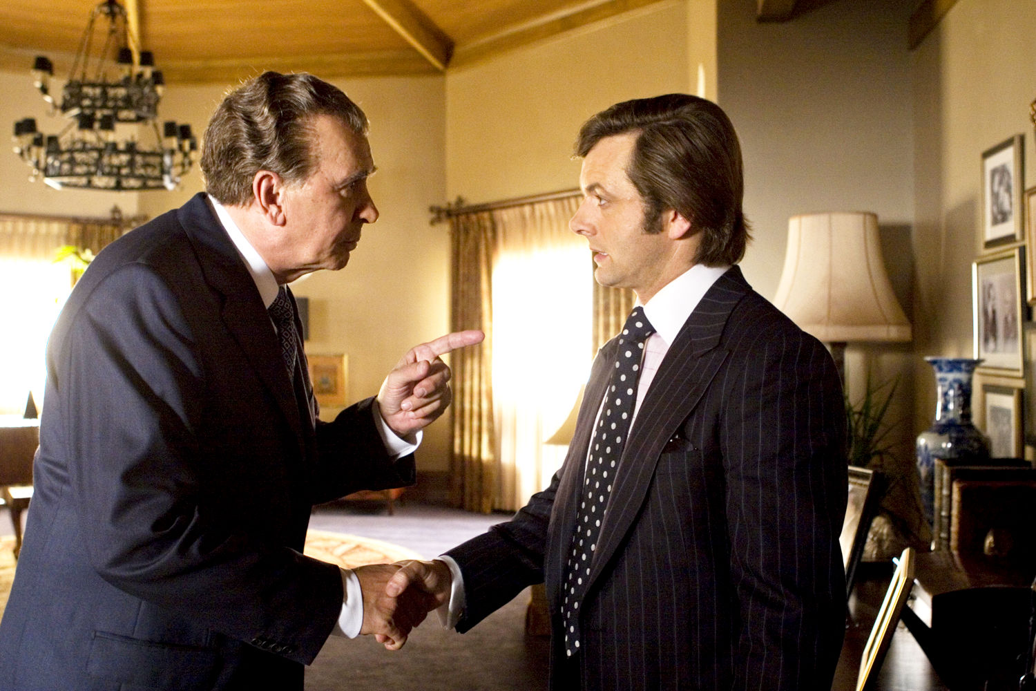 Frank Langella stars as Richard Nixon and Michael Sheen stars as David Frost in Universal Pictures' Frost/Nixon (2008)