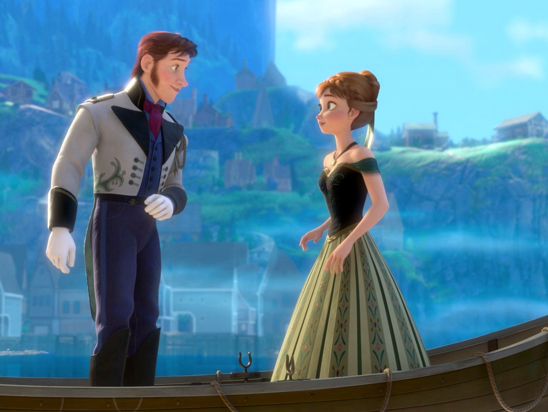 Prince Hans and Anna from Walt Disney Pictures' Frozen (2013)