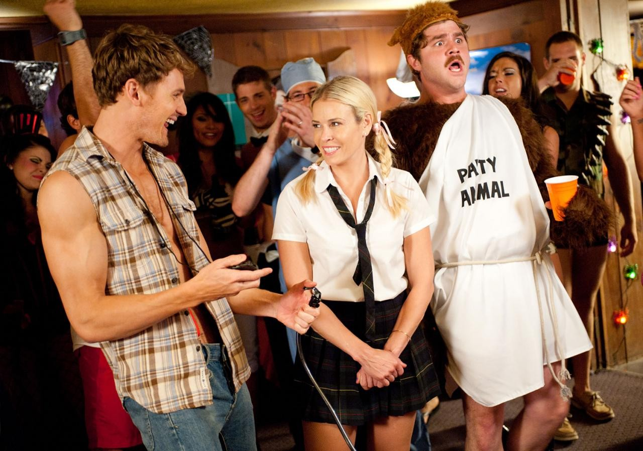 Josh Pence, Chelsea Handler and James Pumphrey in Paramount Pictures' Fun Size (2012)