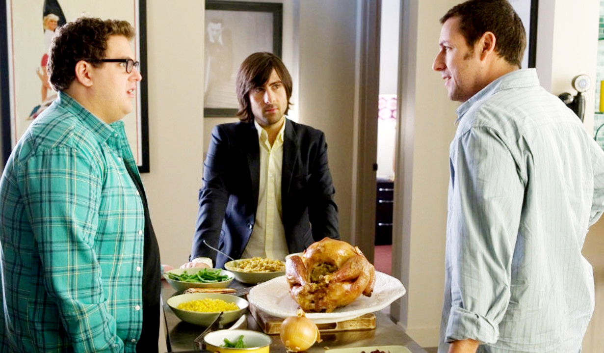 Jonah Hill, Jason Schwartzman and Adam Sandler in Universal Pictures' Funny People (2009)