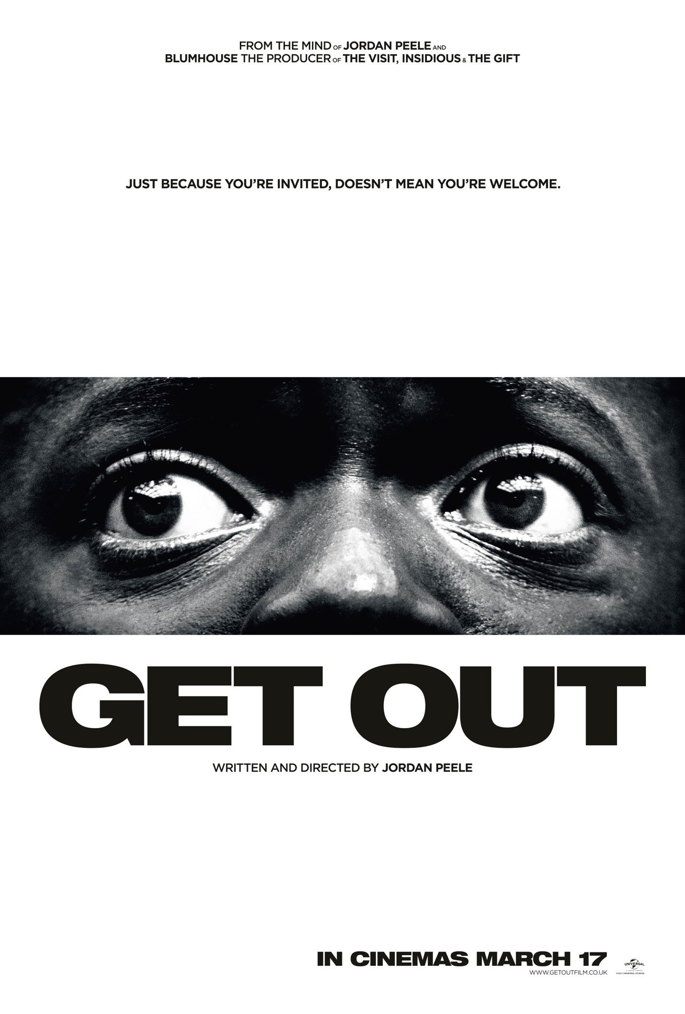 Poster of Universal Pictures' Get Out (2017)