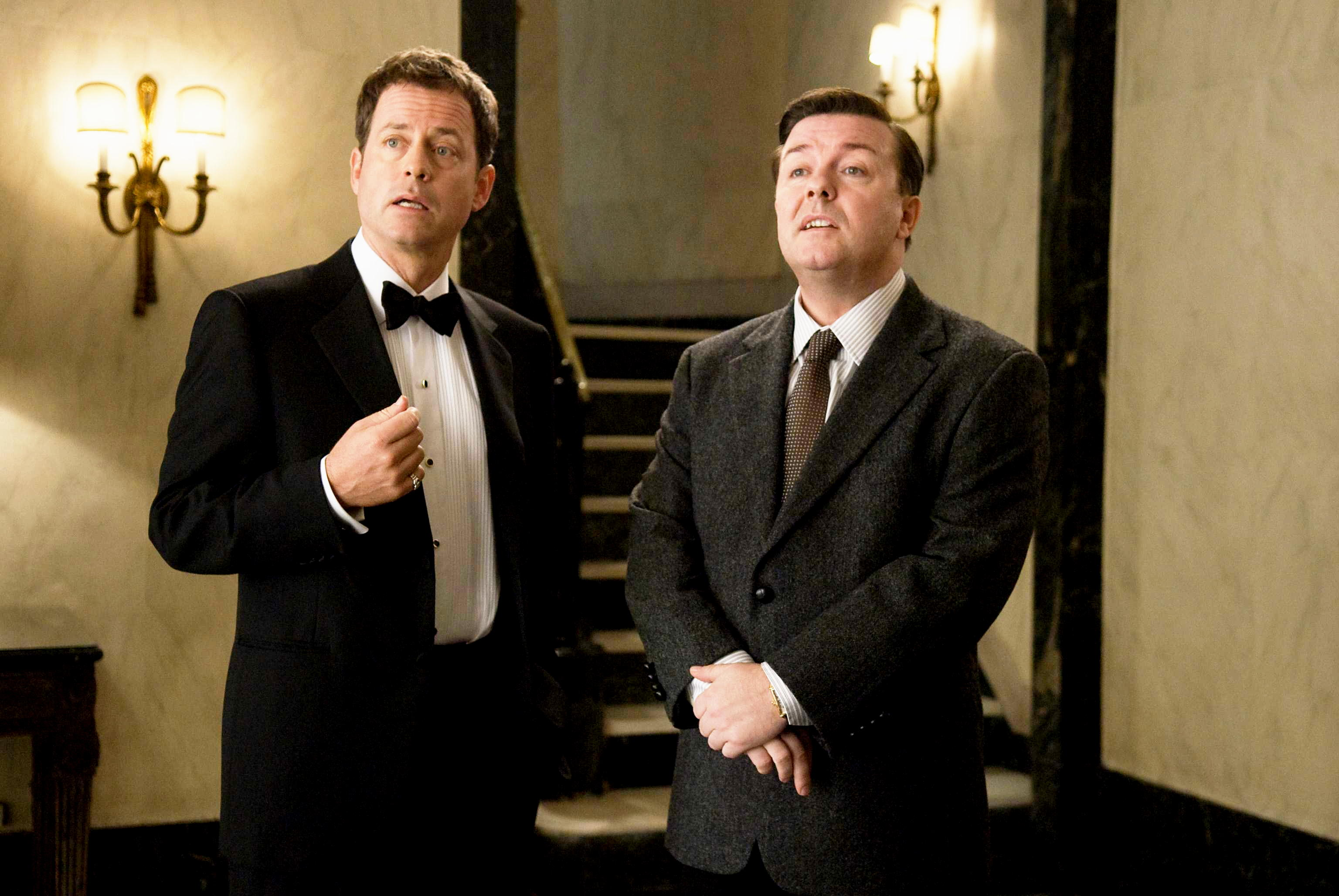 Greg Kinnear stars as Frank Herlihy and Ricky Gervais stars as Bertram Pincus in Paramount Pictures' Ghost Town (2008)