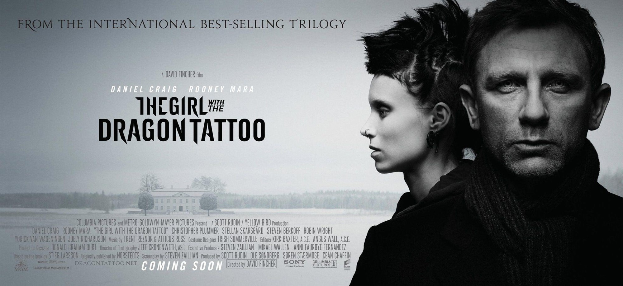 Poster of Columbia Pictures' The Girl with the Dragon Tattoo (2011)