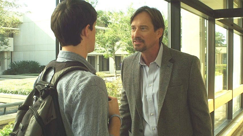 Shane Harper stars as Josh Wheaton and Kevin Sorbo stars as Professor Radisson in Freestyle Releasing's God's Not Dead (2014)