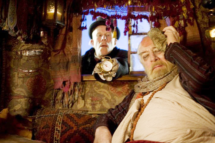 Tom Waits stars as Mr. Nick and Christopher Plummer stars as Dr. Parnassus in Sony Pictures Classics' The Imaginarium of Doctor Parnassus (2009)