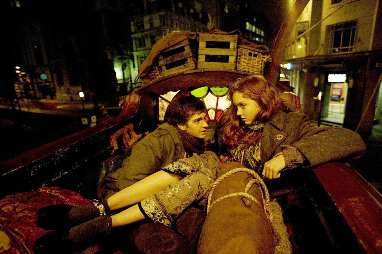 Andrew Garfield stars as Anton and Lily Cole stars as Valentina in Sony Pictures Classics' The Imaginarium of Doctor Parnassus (2009)