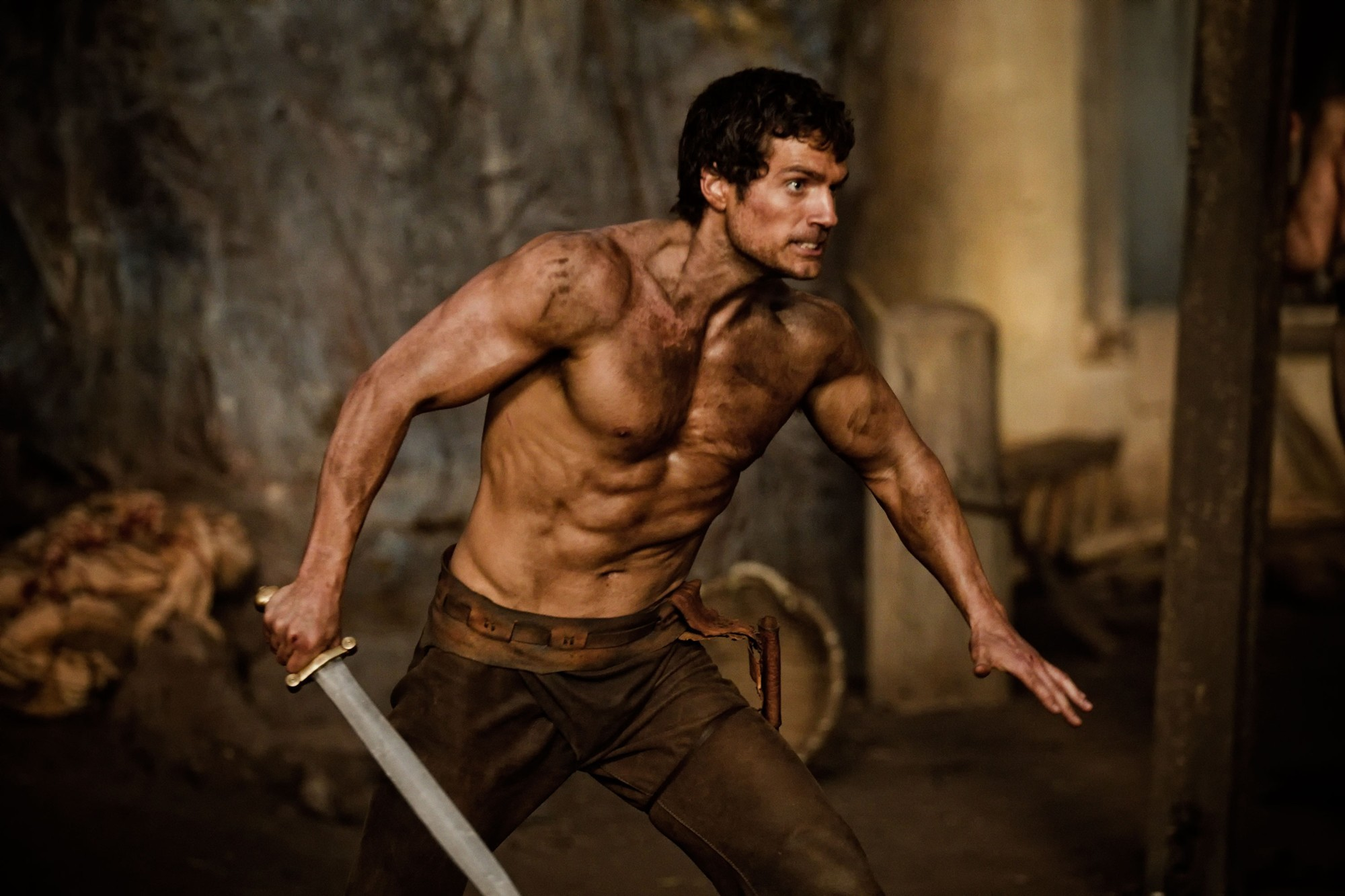 Henry Cavill stars as Theseus in Relativity Media's Immortals (2011)