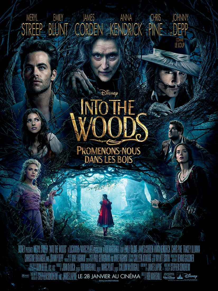Poster of Walt Disney Pictures' Into the Woods (2014)