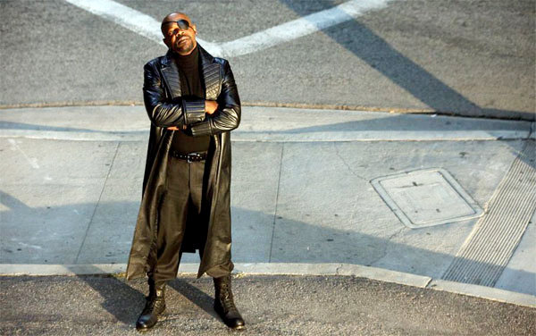 Samuel L. Jackson stars as Nick Fury in Paramount Pictures' Iron Man 2 (2010)