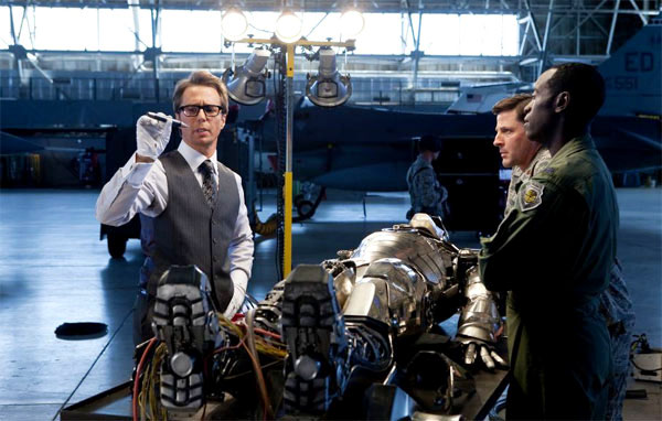 Sam Rockwell stars as Justin Hammer and Don Cheadle stars as Col. James 'Rhodey' Rhodes in Paramount Pictures' Iron Man 2 (2010)