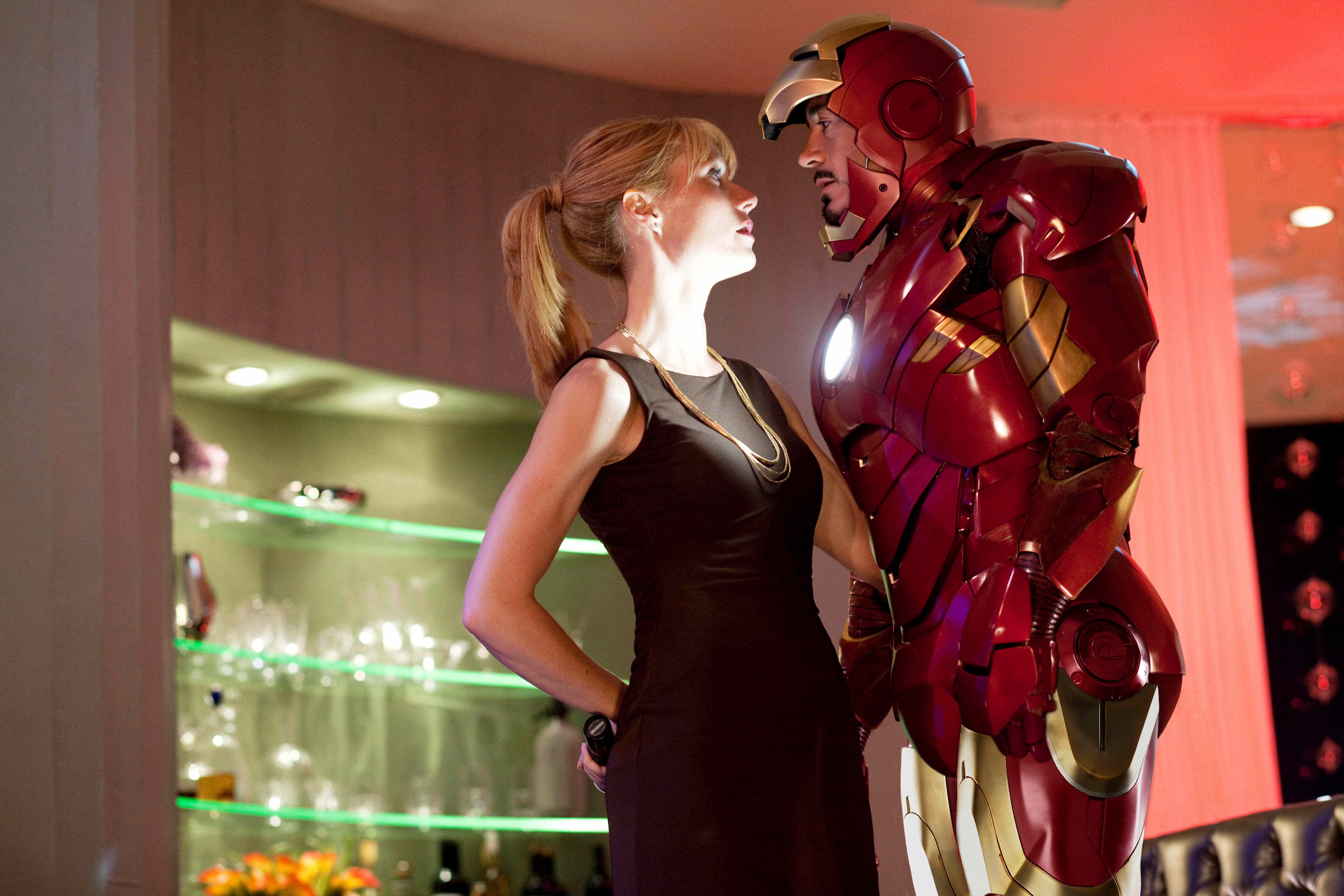 Gwyneth Paltrow stars as Pepper Potts and Robert Downey Jr. stars as Tony Stark/Iron Man in Paramount Pictures' Iron Man 2 (2010)